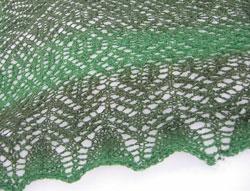 Heartland lace shawl, lähikuva